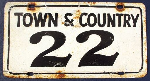 Oldest T&C License Plate