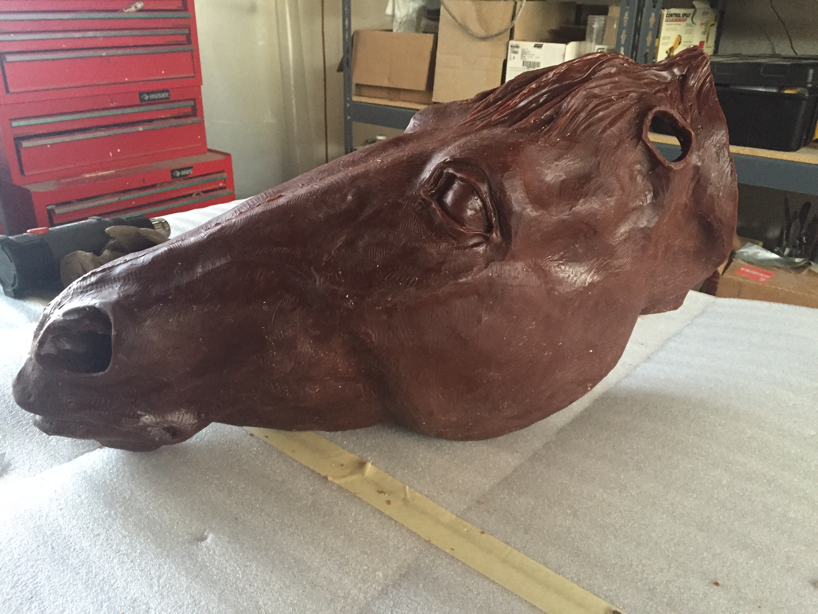 horse head in wax (2)