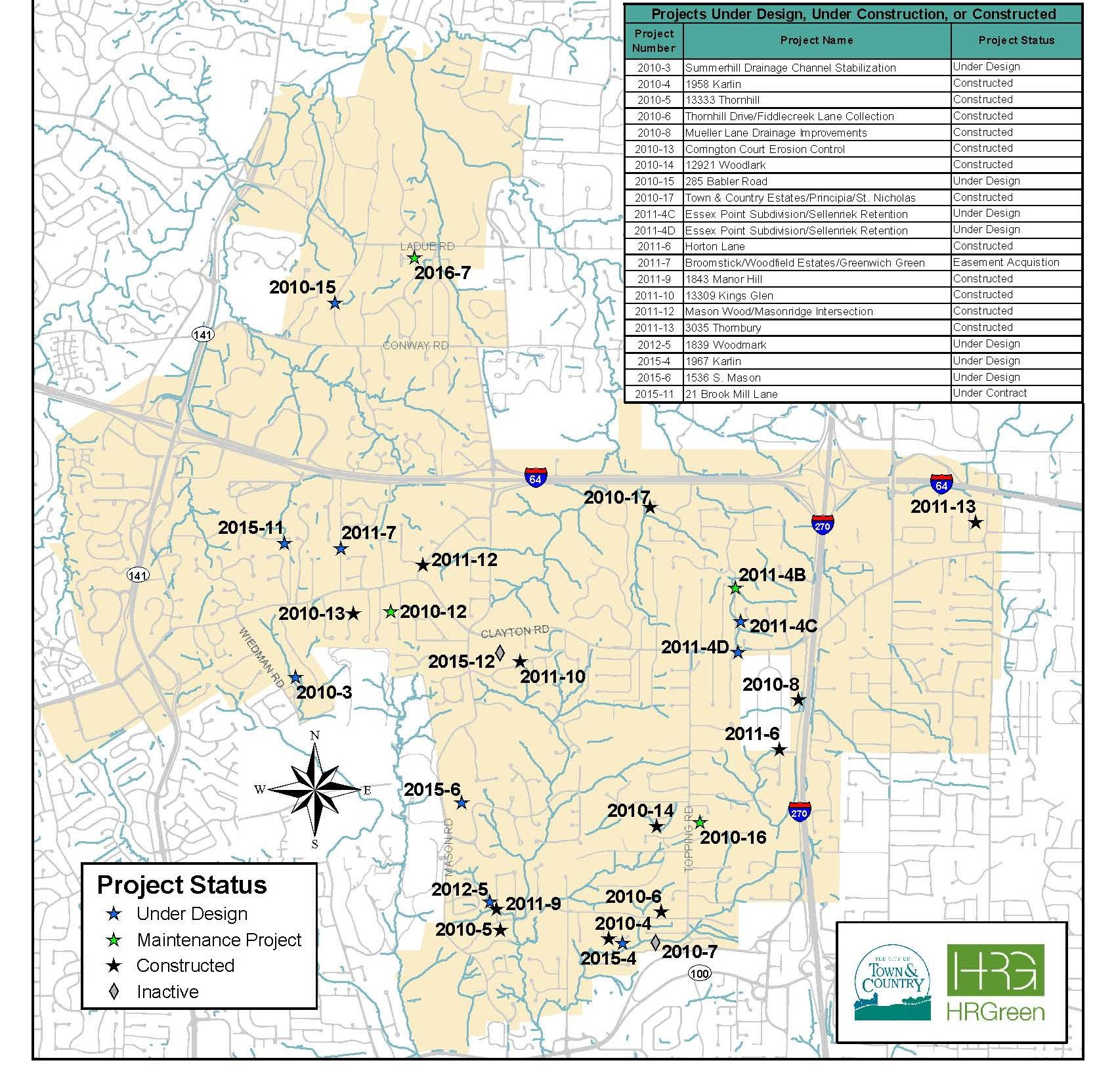 2017 Stormwater Under Construction Map