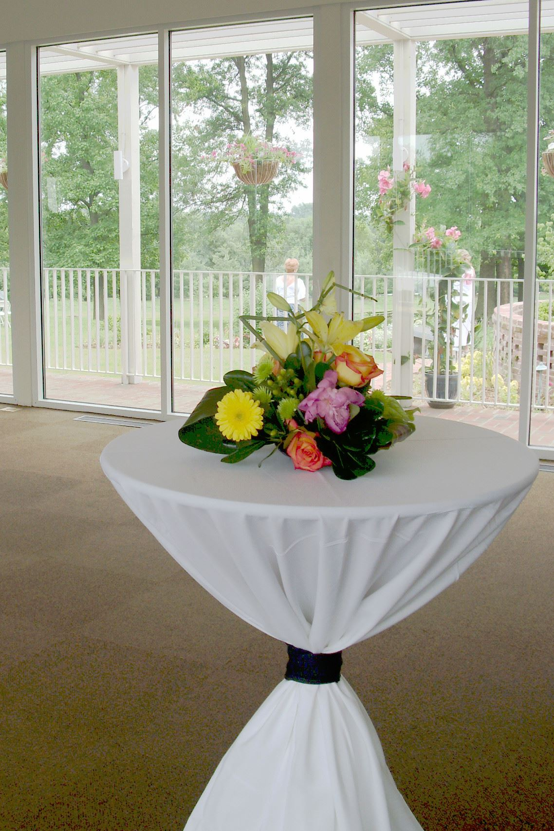 table in gathering room